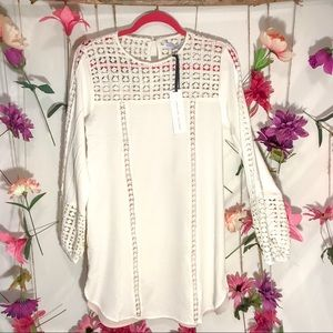English Factory Dress Boho Dress | White | Size S